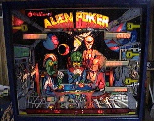 Alien poker pinball parts